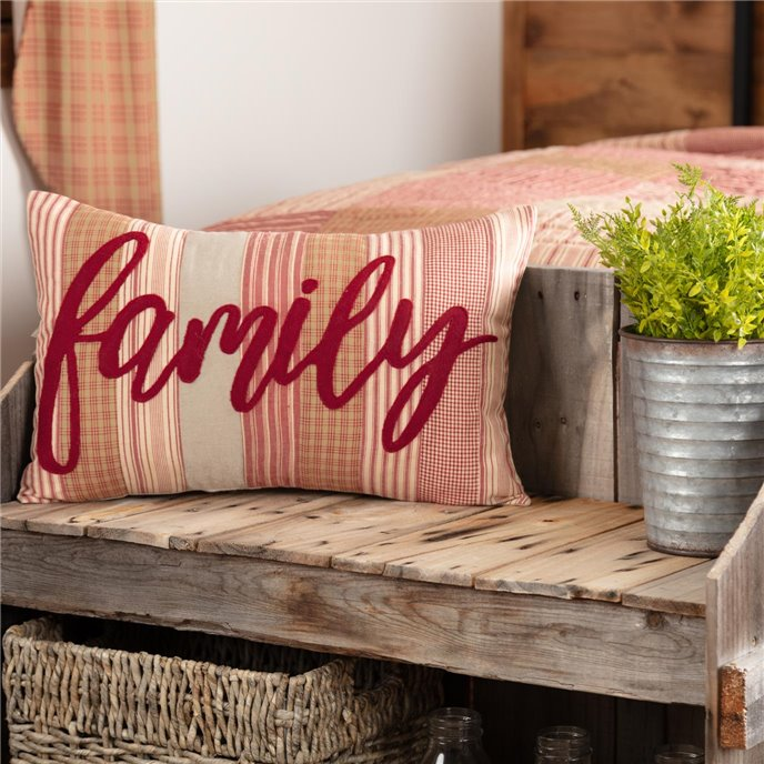 Sawyer Mill Red Family Pillow 14x22 Thumbnail