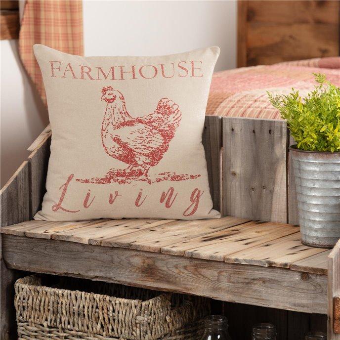 Sawyer Mill Red Farmhouse Living Pillow 18x18 Thumbnail