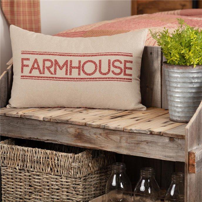 Sawyer Mill Red Farmhouse Pillow 14x22 Thumbnail