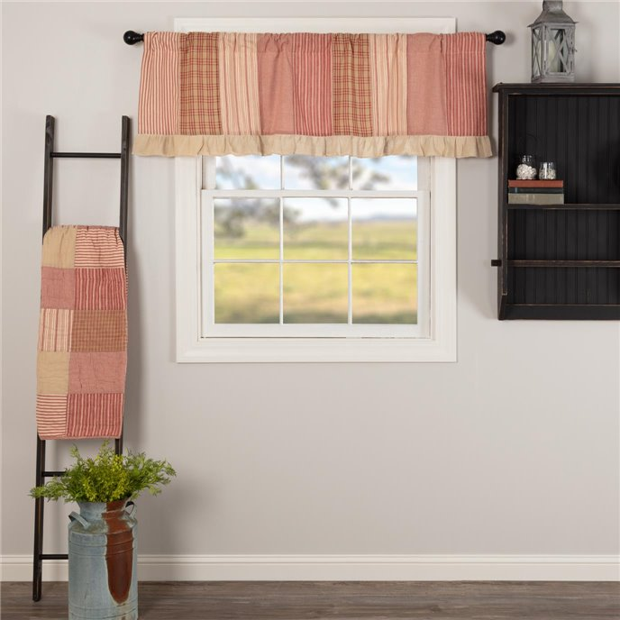 Sawyer Mill Red Patchwork Valance 19x60 Thumbnail
