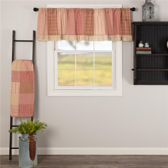 Sawyer Mill Red Patchwork Valance 19x72 Thumbnail