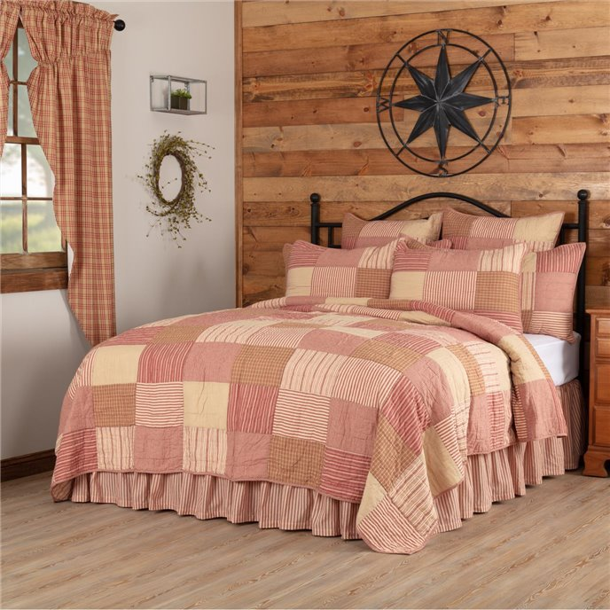 Sawyer Mill Red Twin Quilt 68Wx86L Thumbnail