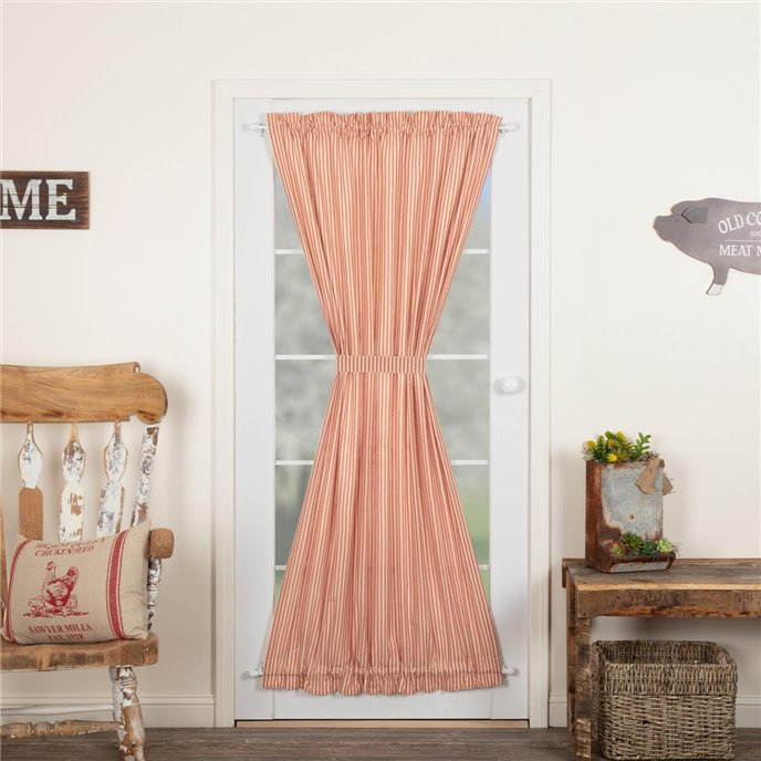 Sawyer Mill Red Ticking Stripe Door Panel 72x40 Thumbnail