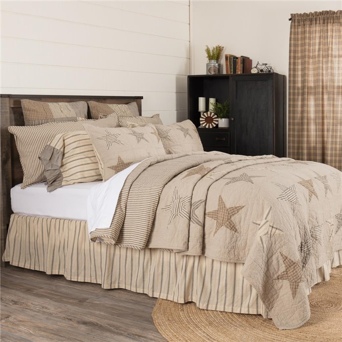 Sawyer Mill Star Charcoal Luxury King Quilt 120Wx105L Thumbnail