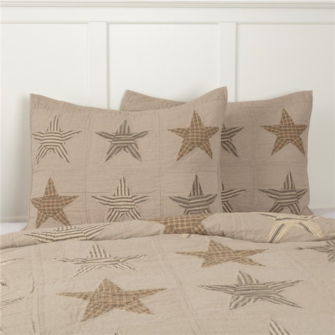 Sawyer Mill Star Charcoal Standard Sham 21x27 Thumbnail