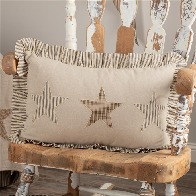 Sawyer Mill Star Charcoal Pillow 14x22 Thumbnail