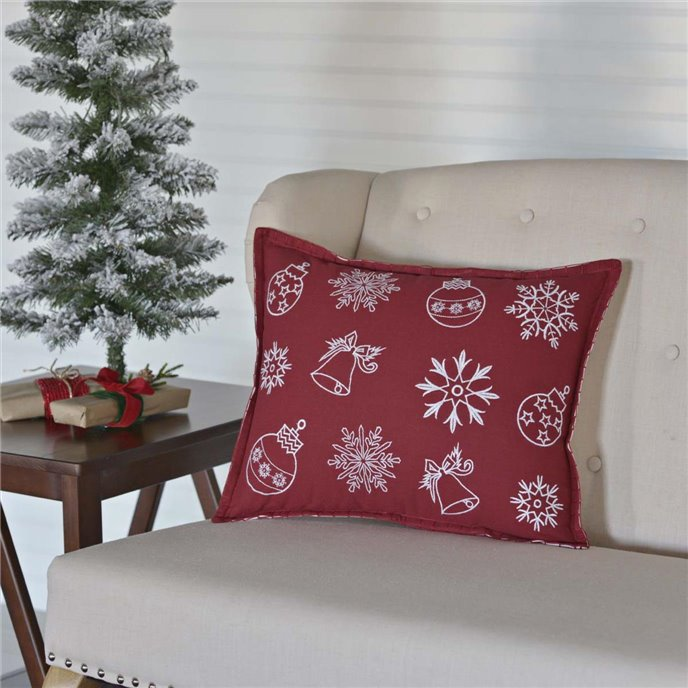 Snow Ornaments Pillow 14x18 Thumbnail
