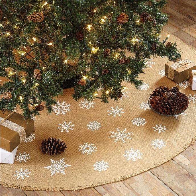 Snowflake Burlap Natural Mini Tree Skirt 21 Thumbnail