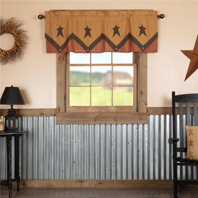 Stratton Primitive Star Valance Layered 20x60 Thumbnail