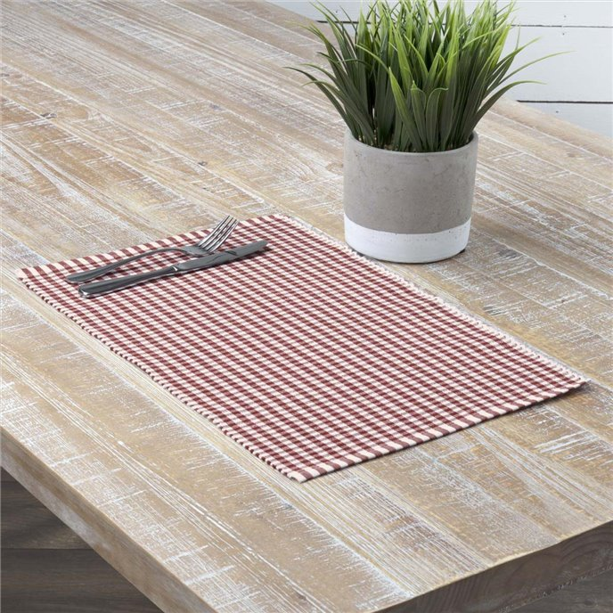 Tara Rust Ribbed Placemat Set of 6 12x18 Thumbnail