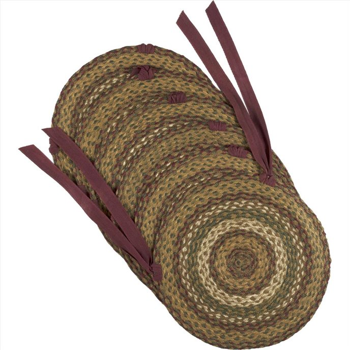 Tea Cabin Jute Chair Pad Set of 6 Thumbnail