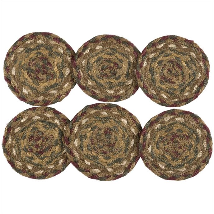 Tea Cabin Jute Coaster Set of 6 Thumbnail