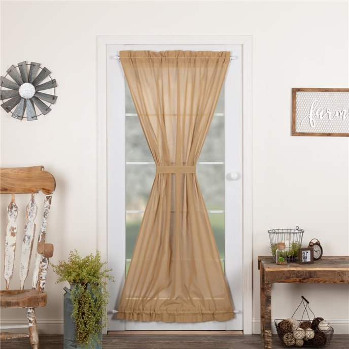 Tobacco Cloth Khaki Door Panel 72x40 Thumbnail