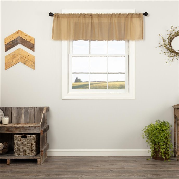 Tobacco Cloth Khaki Valance Fringed 16x60 Thumbnail