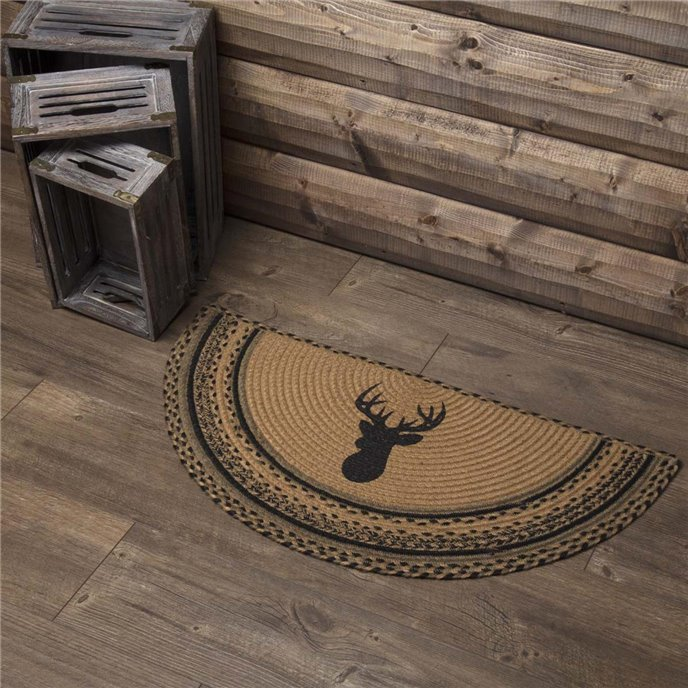 Trophy Mount Jute Rug Half Circle 16.5x33 Thumbnail