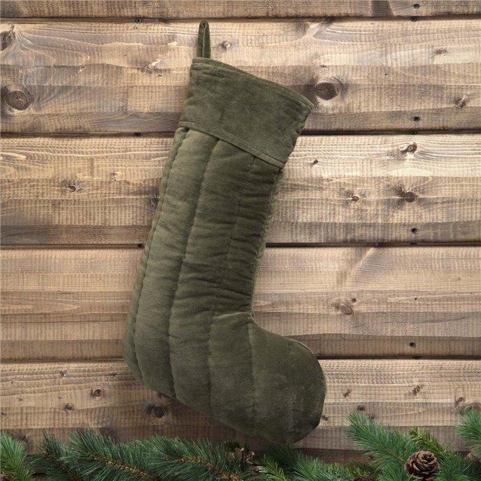 Velvet Green Stocking 12x20 Thumbnail