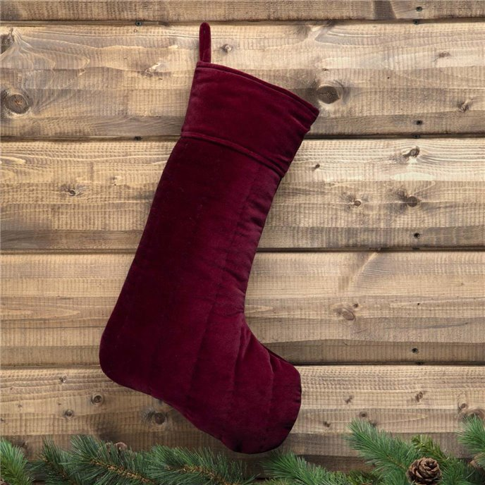 Velvet Red Stocking 12x20 Thumbnail