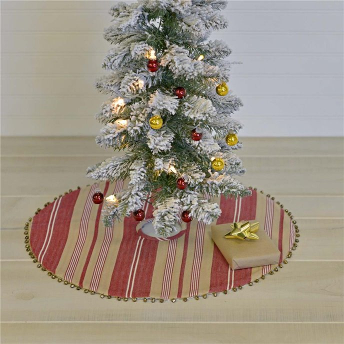 Vintage Stripe Mini Tree Skirt 21 Thumbnail