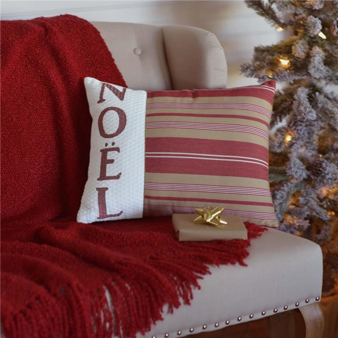 Vintage Stripe Noel Pillow 14x18 Thumbnail