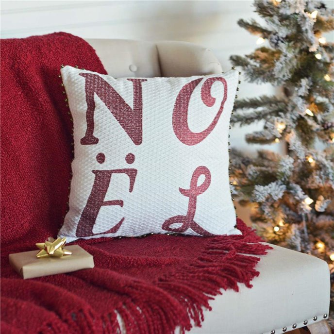 Vintage Stripe Noel Pillow 16x16 Thumbnail