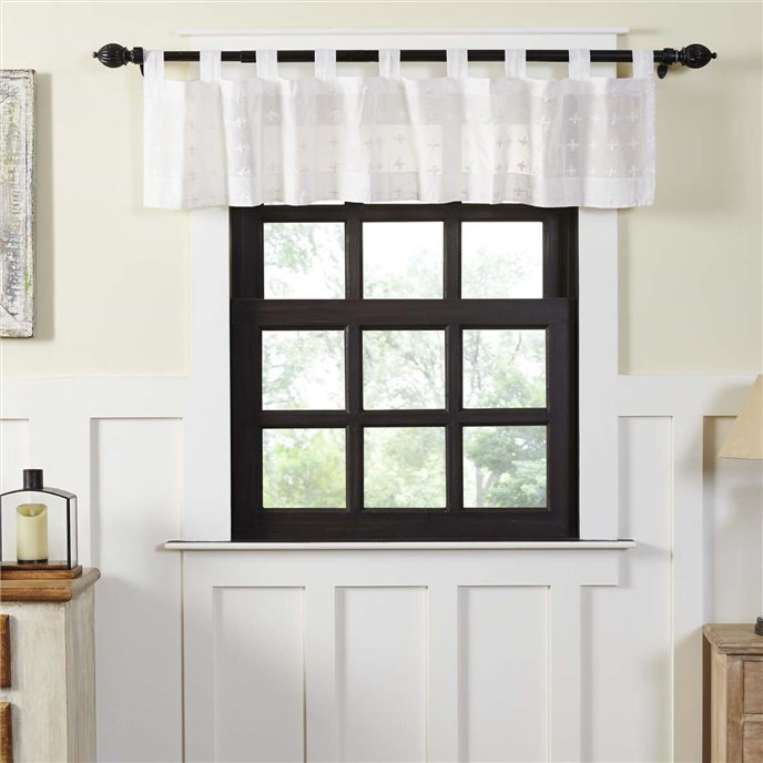 Willow White Tab Top Valance 16x72 Thumbnail