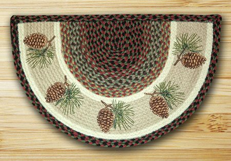 "Pinecone Braided and Printed Slice Rug 18""x29"" Thumbnail"