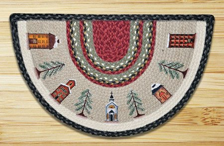 "Winter Village Braided and Printed Slice Rug 18""x29"" Thumbnail"