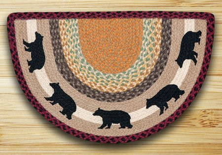 "Cabin Bear Braided and Printed Slice Rug 18""x29"" Thumbnail"