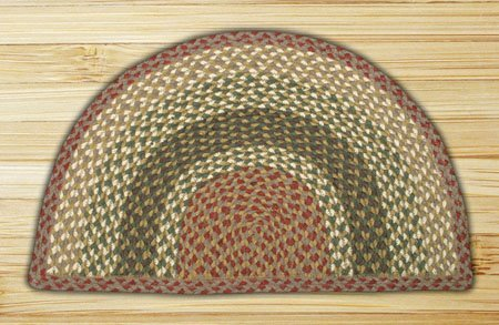 "Olive, Burgundy & Gray Large Rug Slice 24""x39"" Thumbnail"