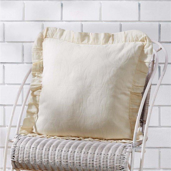 Abigail Ruffle Pillow Cover 18x18 Thumbnail