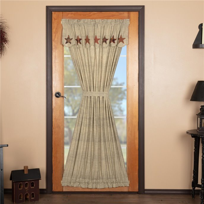 Abilene Star Door Panel with Attached Valance 72x40 Thumbnail