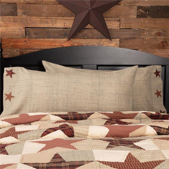 Abilene Star King Pillow Case Set of 2 21x40 Thumbnail