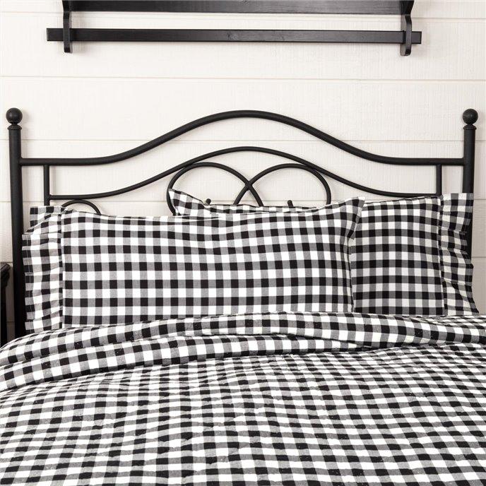 Annie Buffalo Black Check King Pillow Case Set of 2 21x40 Thumbnail