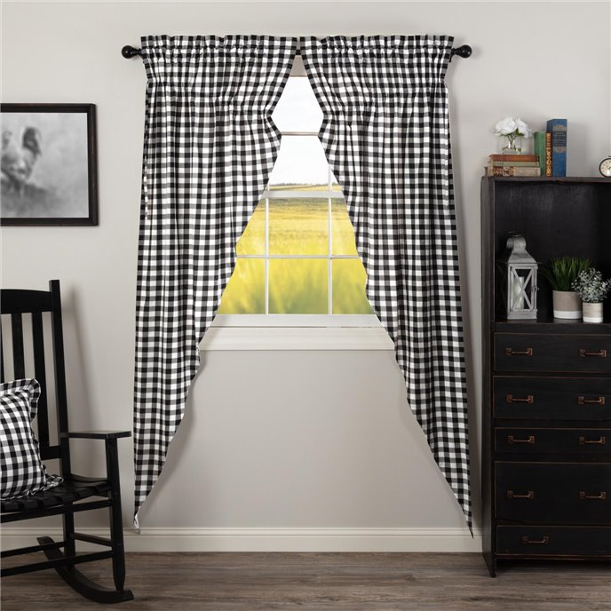 Annie Buffalo Black Check Prairie Long Panel Set of 2 84x36x18 Thumbnail