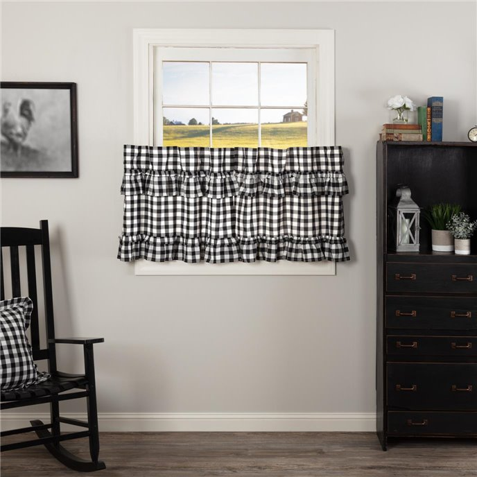 Annie Buffalo Black Check Ruffled Tier Set of 2 L24xW36 Thumbnail
