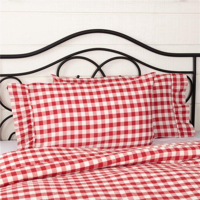 Annie Buffalo Red Check Standard Pillow Case Set of 2 21x30+4 Thumbnail