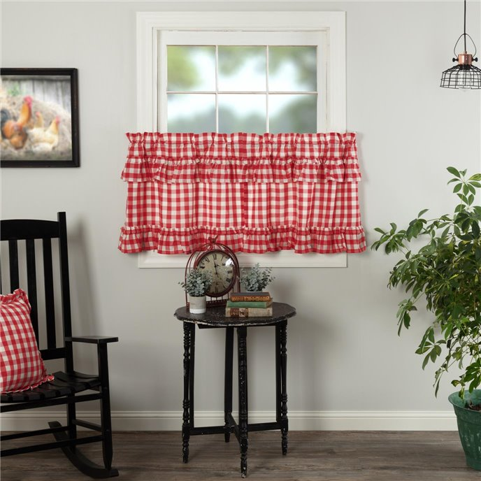 Annie Buffalo Red Check Ruffled Tier Set of 2 L24xW36 Thumbnail