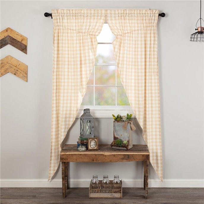 Annie Buffalo Tan Check Prairie Long Panel Set of 2 84x36x18 Thumbnail