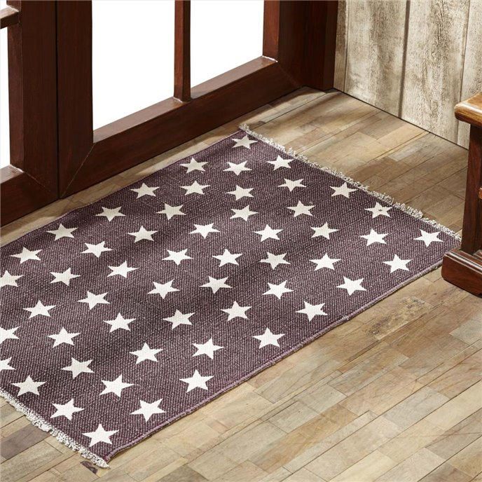 Antique Red Star Rug Rect 20x30 Thumbnail