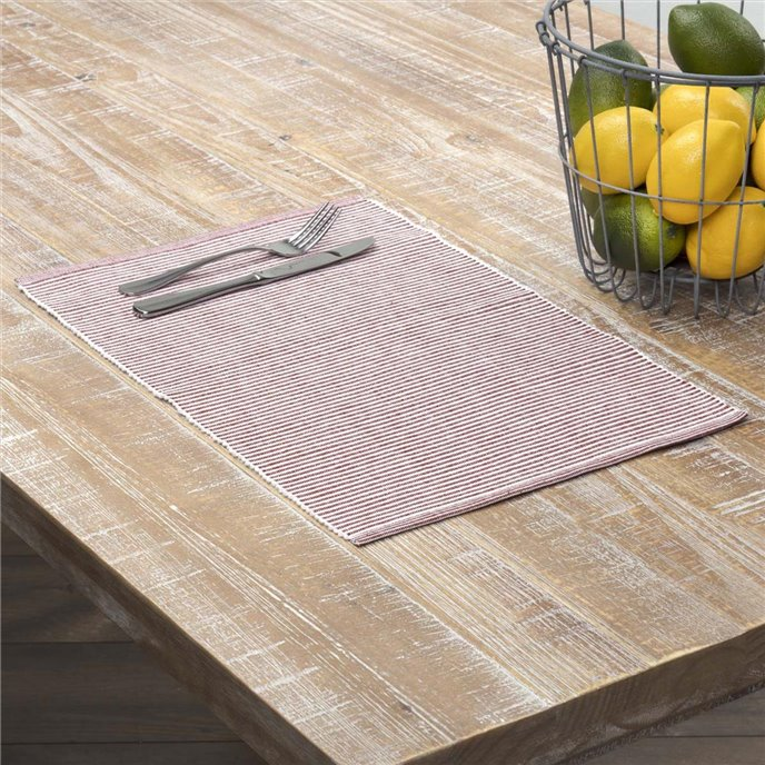 Ashton Rust Ribbed Placemat Set of 6 12x18 Thumbnail