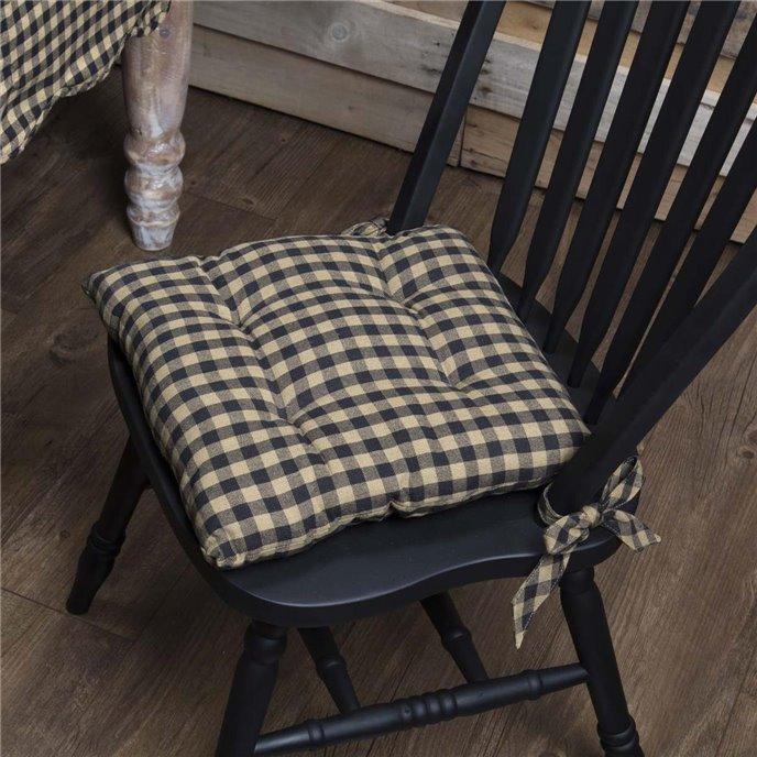 Black Check Chair Pad Thumbnail