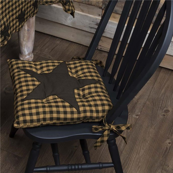 Black Star Chair Pad Thumbnail