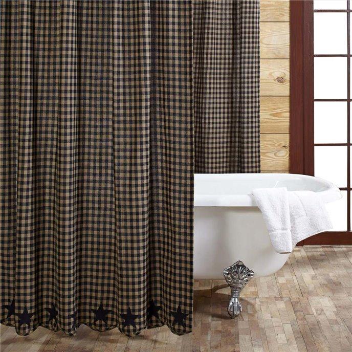 Black Star Shower Curtain 72x72 Thumbnail