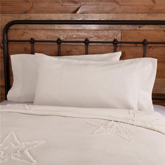 Burlap Antique White King Pillow Case Set of 2 21x40 Thumbnail