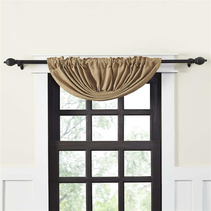 Burlap Natural Balloon Valance 15x60 Thumbnail