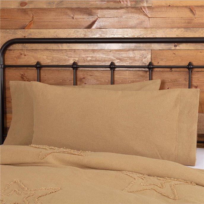 Burlap Natural King Pillow Case Set of 2 21x40 Thumbnail