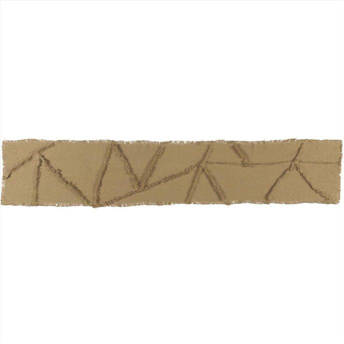 Burlap Natural Reverse Seam Patch Runner 13x72 Thumbnail