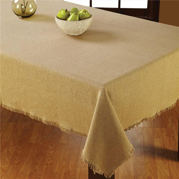 Burlap Natural Table Cloth 60x102 Thumbnail