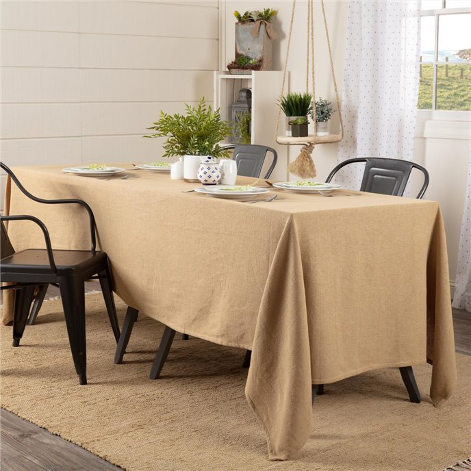 Burlap Natural Table Cloth 60x120 Thumbnail