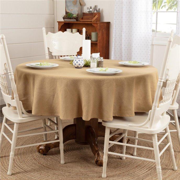 Burlap Natural Table Cloth 70 Round Thumbnail